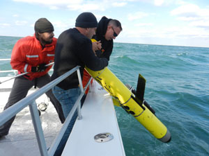 Deploying the Glider during Sandy