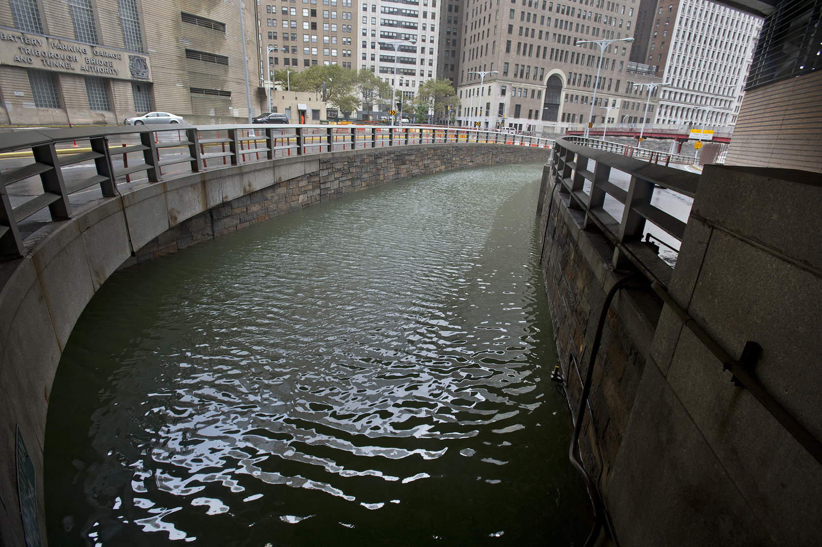 The Hugh L. Carey Tunnel, which connects Manhattan and Brooklyn, during the flooding resulting from Superstorm Sandy in 2012. Photo: Metropolitan Transit Authority