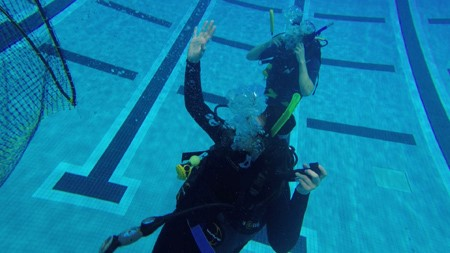 Rutgers' scientific diving course is one of the few such classes open to undergraduates in the United States. Photo: Cameron Bowman/Rutgers University