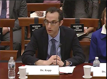 """EOAS Director Robert E. Kopp Testifies to U.S. Congressional Committee: """"Climate change is real, it is here now, and humans are responsible for it"""""""