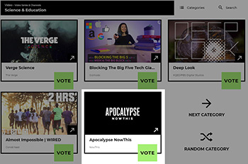 Apocalypse NowThis, Featuring Vadim Levin, Nominated for a Webby Award