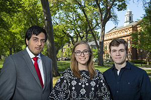 From Ocean Currents to Theoretical Particles: Three Rutgers Students Receive Goldwater Scholarships