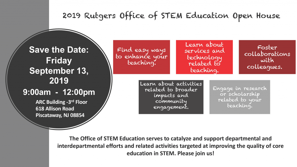 Office of STEM Education Open House flyer. See page for text details.