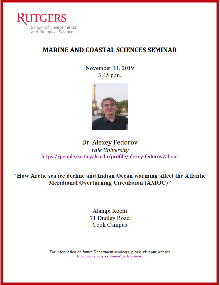 DMCS Seminar Flyer -- details on page