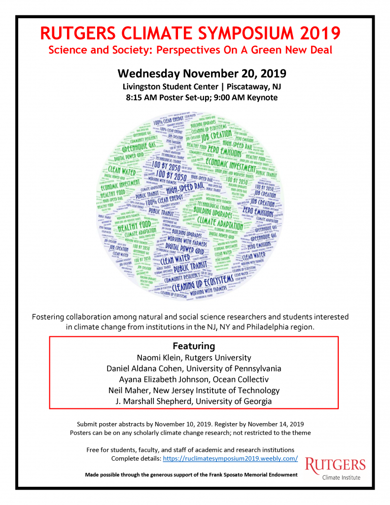 Rutgers annual climate symposium flyer. See registration link for more information.