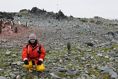 Mansha Seth-Pasricha in Antarctica.