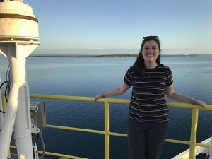 EOAS Postdoctoral fellow Laura Haynes cruises the world searching for core samples.