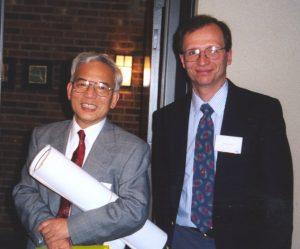 Syukuro Manabe and EOAS faculty member Anthony Broccoli in 1998.