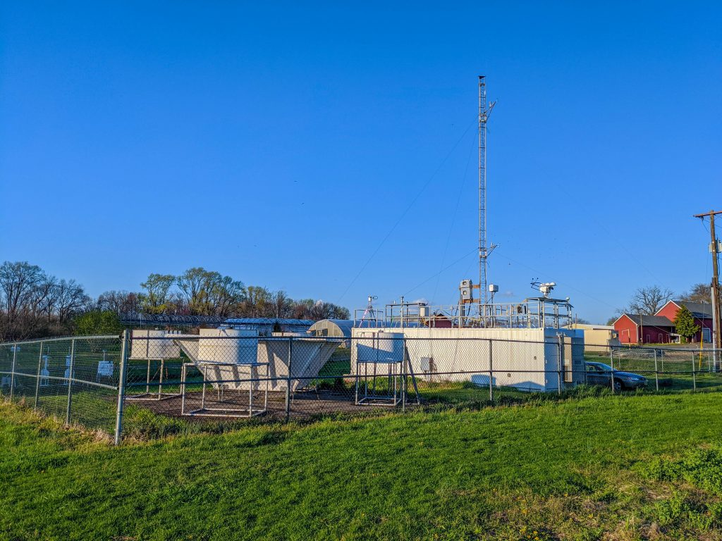 Picture of the Rutgers Photochemical Assessment Monitoring (PAMS) station in East Brunswick, NJ