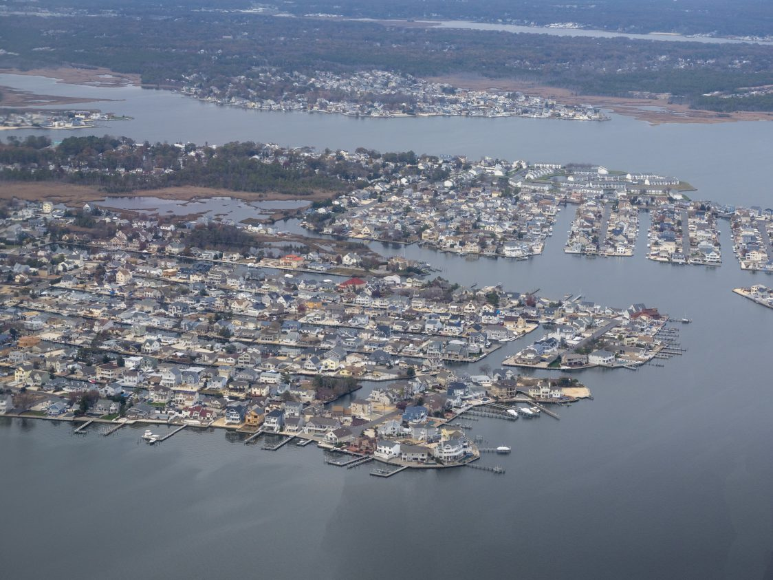 Aerial view of the Jersey Shore