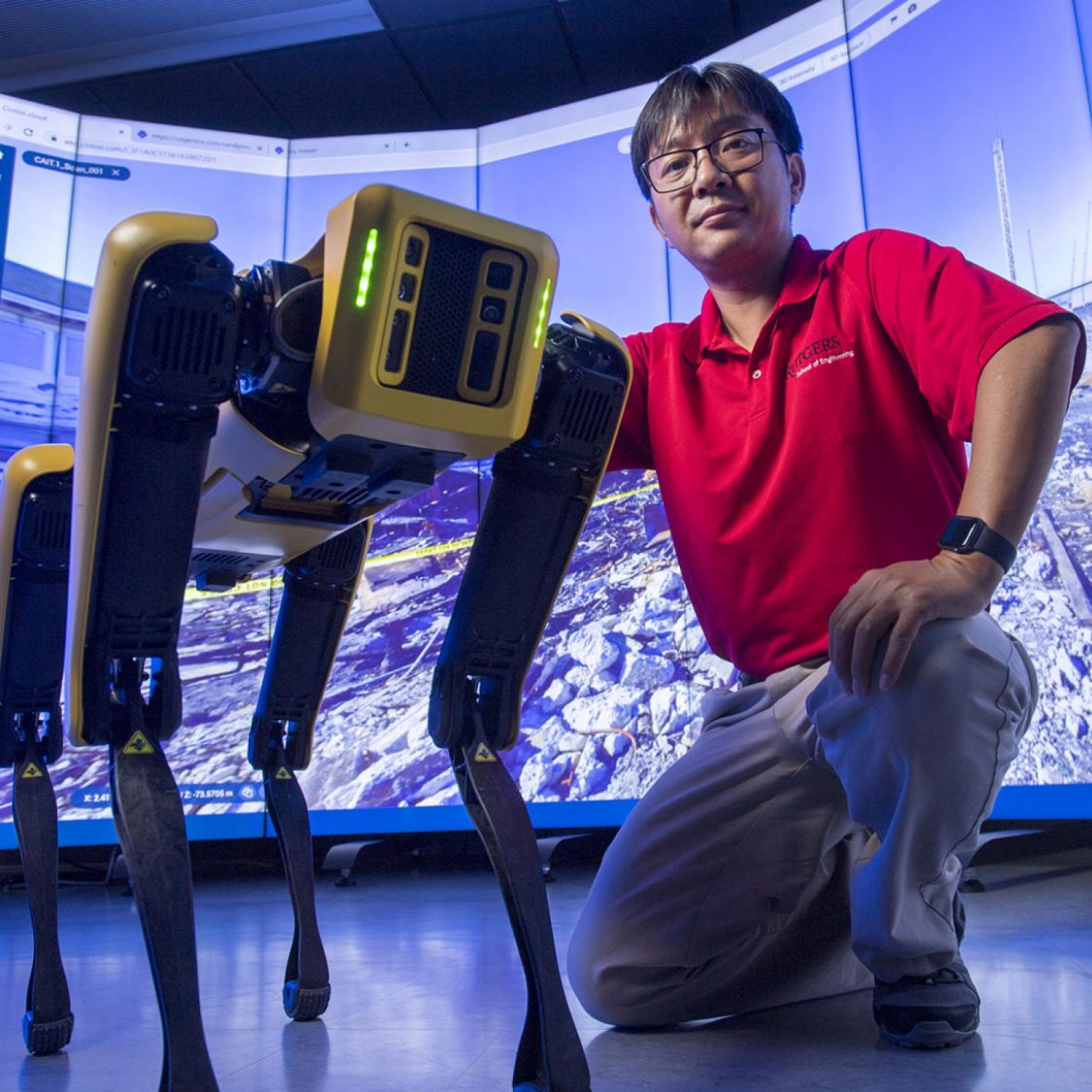 Jie Gong and his Robot